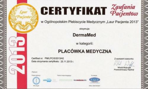 Certyfikat zaufania pacjętów